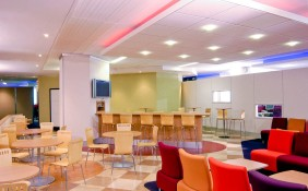 Cafe and breakout areas