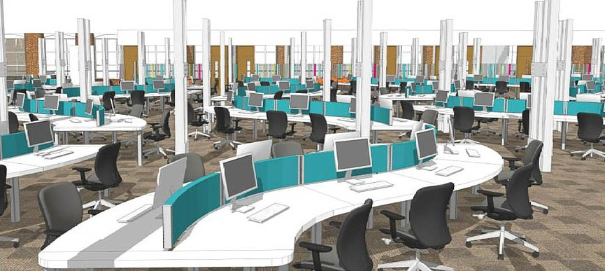 Call center layout design google search call center for Interior site