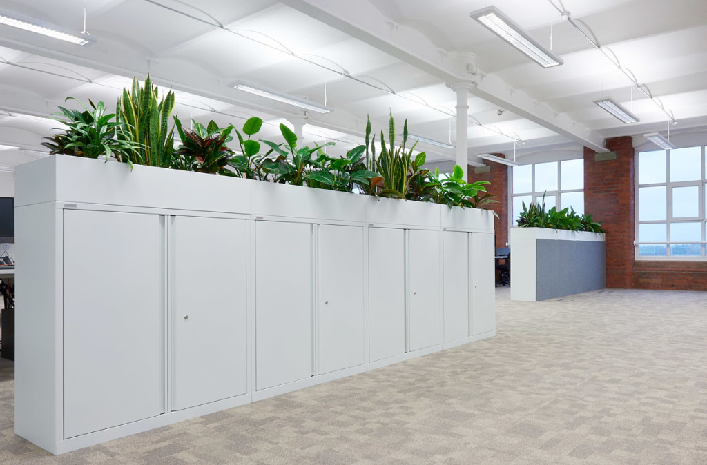 integrated planters
